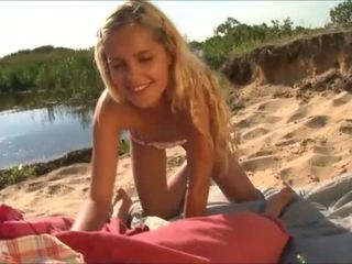 innocent amateur teen, blowjobs, beach