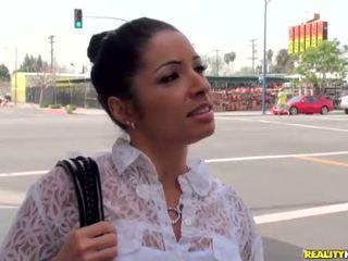 Latina chick with nice smile Monica Santhiago