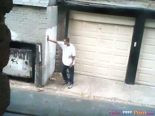 Seks / persetubuhan yang pelacur dalam an alley