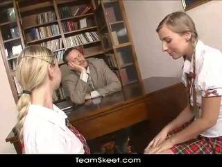 group sex, uniform, schoolgirls