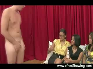 These horny ladies want to see him Rough so he helps them out