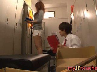 Kaori szexi japán tanár getting
