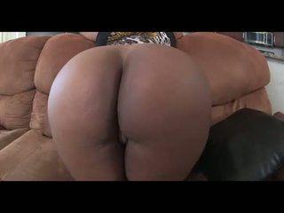 enormt, ass, svart