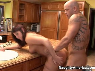 si rambut cokelat, hardcore sex, nice ass