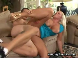 Blonde momma Alexis Golden getting drilled on her twat the way she always liked