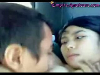Chinois couple baise en voiture
