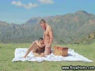 Outdoor picnic sex experience