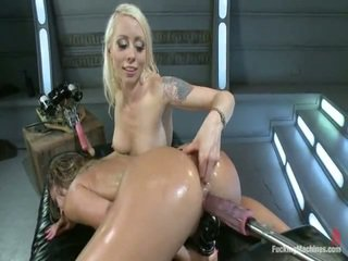 Lorelei Lee And Kristina Rose Shag Each Other In A Ass Hole And Twat Together With Machines, Bush Licking, Domming, Great Bananas And Tons Of Cumming And Twofold Pen