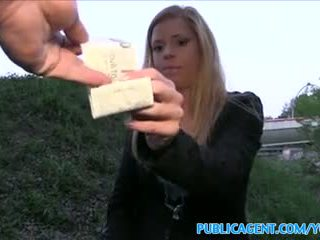 PublicAgent Hot blonde wants stranger to fuck her outside