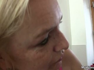 Aged Blonde Seduces Son In Law