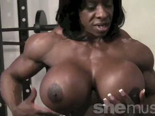 Eben female muscle