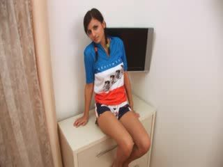 Cute portuguese brunette with nice boo...