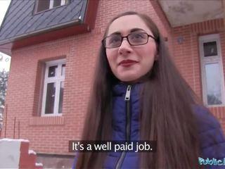 Öffentlich agent jung russisch im brille ficken ein groß schwanz