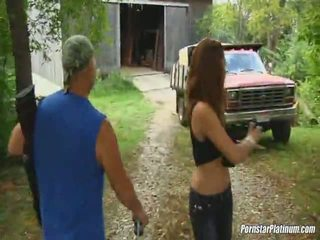 outdoor sex, red head, outside