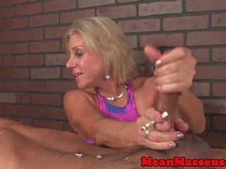 Dominant panterona masseuse dominates cliente: gratis porno 41