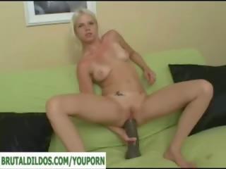 şaşkın, büyük yapay penis, anal oyuncak
