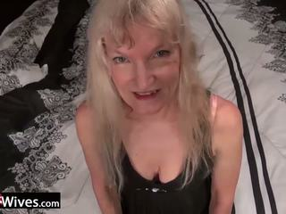 Usawives Slim Blonde Granny Cindy Solo Play: Free Porn ba