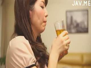 brunetka, japoński, wytryski