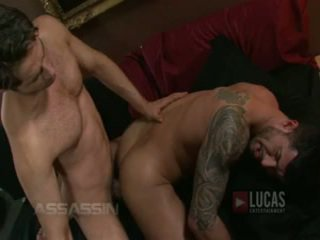 Michael lucas un adam killian jāšanās passionately