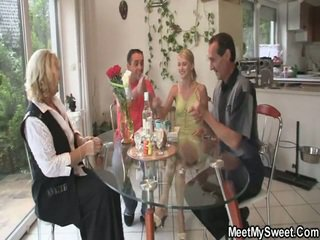 Awesome 3 Some Porn Party At Her Birthday
