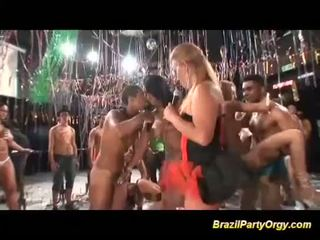 Wild brazilian carneval anal fuck party