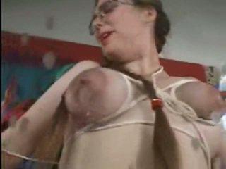 preggo bound tits