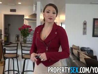 Propertysex - كبير الحمار اتينا حقيقي estate agent خداع إلى الهاوي جنس فيديو