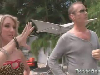 Rocco gets his enormous cock sucked by Amy Brooke