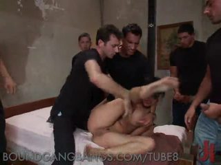 Brutaali gangbang of a filthy whore
