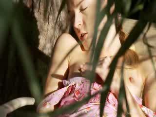 Krajné sexy záhrada masturbation