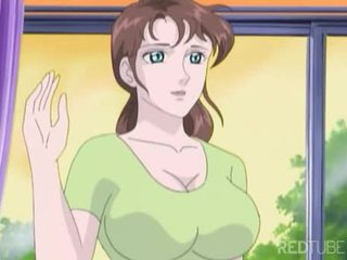 Busty manga cô gái taken qua nerd
