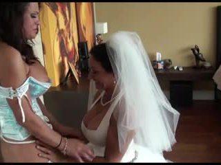 Pm - lesbijskie panna młoda i bridesmaid przez kr
