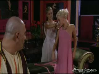 Roman Gladiator Licking The Pussy Of A Young Blonde Goddess
