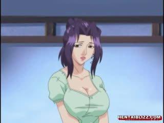 Nhật bản hentai mẹ với to jugs gets fucked lược qua xưa đàn ông