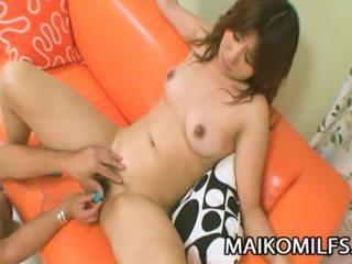 Hitomi fujiwara हॉर्नी जपानीस मोम गड़बड़