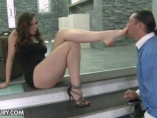 fetiche, pernas sexy, footjob