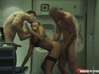 Flight attendant Katsuni crazy threesome