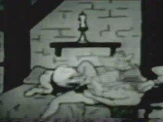 Tappning xxx tecknad version av snow vit och den seven dwarves
