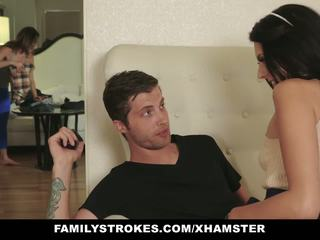 Familystrokes - MILF Catches Step-siblings Fucking: Porn 5d