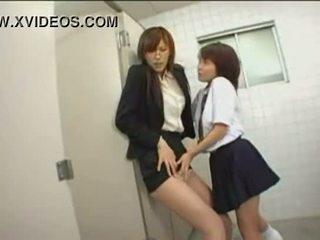 japonês, público, meia-calça