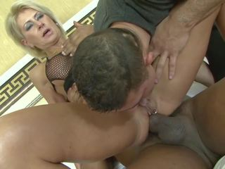 Mature Blonde Wife Cheating on Husband with Black Man