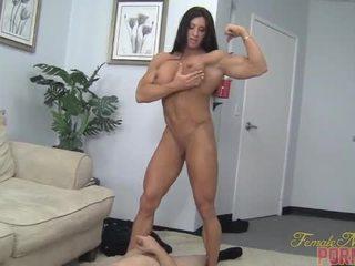 muscle, humiliation, female