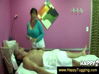 Oriental pijet masseuse handjobs wanking cepet digawe nggo tangan tugging tug job cfnm big boob bigtits bigboobs