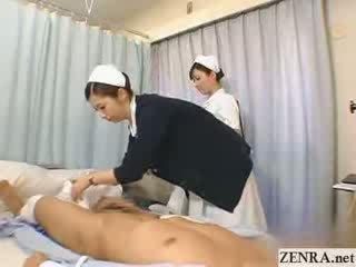 Японська медсестра practices її мастурбація техніка