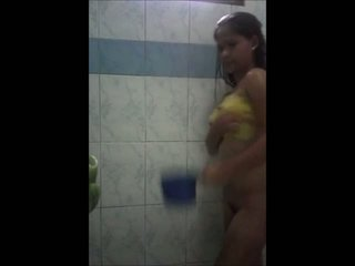Cute teen asian shower