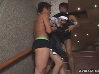 Japānieši skaistule piespiedu līdz zīst dzimumloceklis uncensored