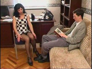 ยาว legged รัสเชีย แม่ผมอยากเอาคนแก่ ใน ถุงเท้ายาว และ a guy