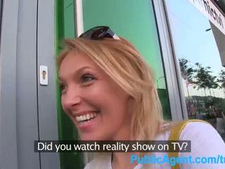 Publicagent o gets spit-roasted outdoors için almak şeref delik tv iş