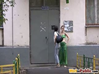sexo en público, pissing, orinó en