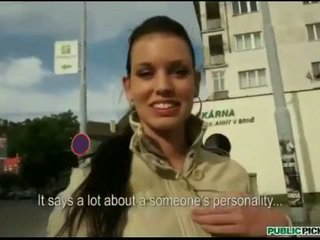 Eurobabe Tea Key pussy banged in publi...